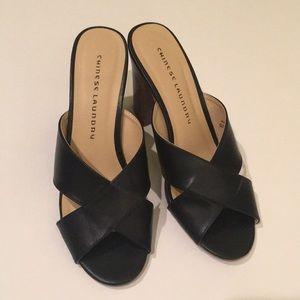 Super cute Chinese laundry black heels!